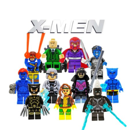 Kit X-Men Compatível Lego c/11