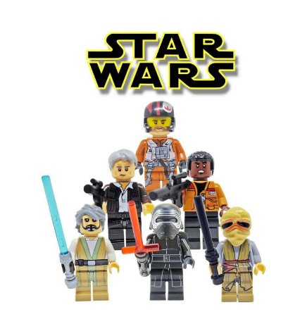 Kit Star Wars Lego Compatível Despertar da Força c/ 6