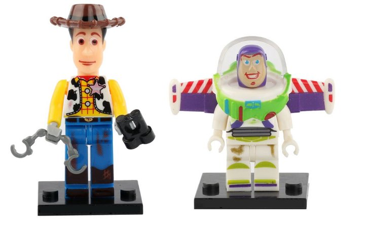 Kit Toy Story - Buzz e Woody compatível Lego