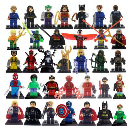 Super Kit Marvel e DC Compatível Lego c/ 34