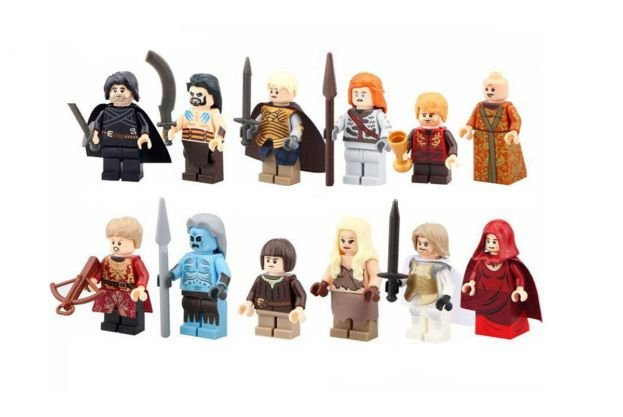 Kit Game of Thrones C/12 compatível Lego