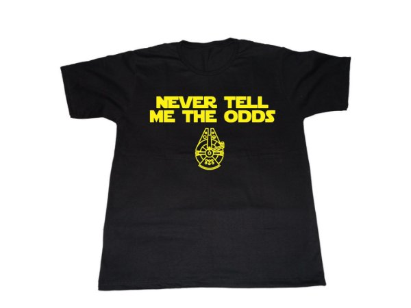 Camiseta Star Wars Han Solo Never Tell Me the Odds - Masculina
