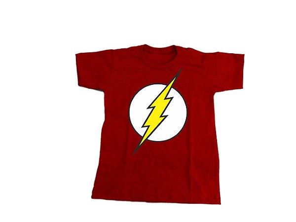 Camiseta Super Heróis Flash - Infantil
