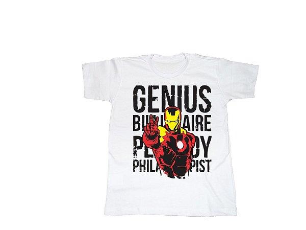 Camiseta Super Heróis Homem de Ferro - Infantil