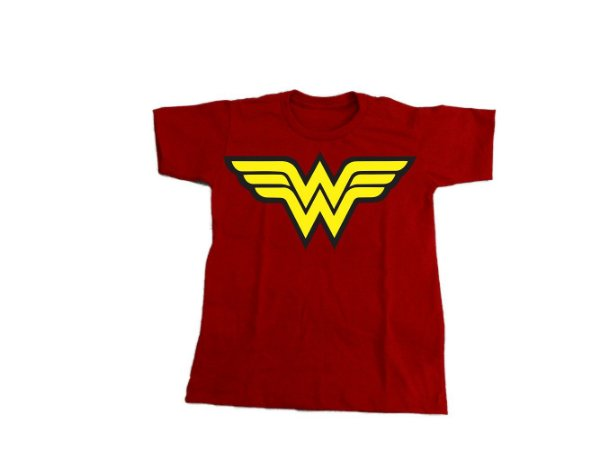 Camiseta Super Heróis Mulher Maravilha - Infantil