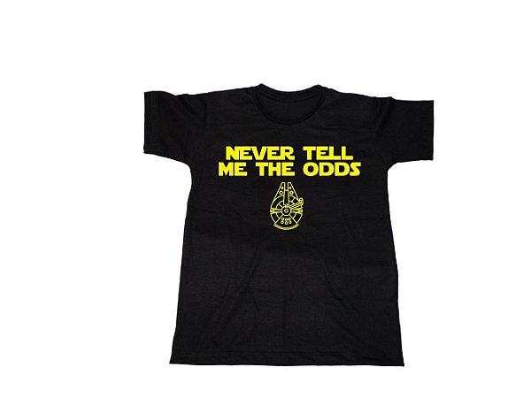 Camiseta Star Wars Han Solo Never Tell  - Infantil