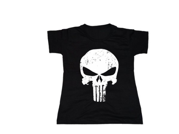 Camiseta Justiceiro - Baby Look