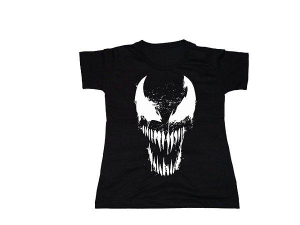 Camiseta Super Heróis Venom - Baby Look