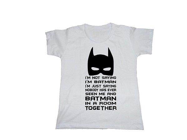Camiseta Not Batman - Baby Look