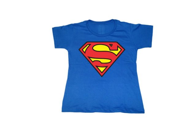 Camiseta Super Heróis Superman - Baby Look