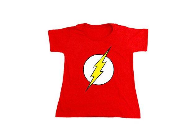 Camiseta Super Heróis The Flash - Baby Look