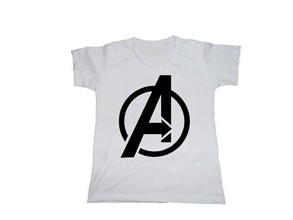 Camiseta Super Heróis Vingadores - Baby Look