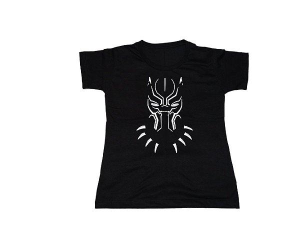 Camiseta Pantera Negra - Baby Look