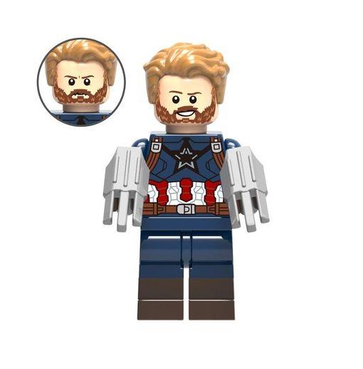 Boneco Capitão América Lego Compatível - Marvel (Edição especial Guerra Infinita)