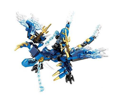 Jay Dragão relâmpago Ninjago Lego Compatível (137 peças)