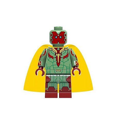 Boneco Visão Lego Compatível - Marvel