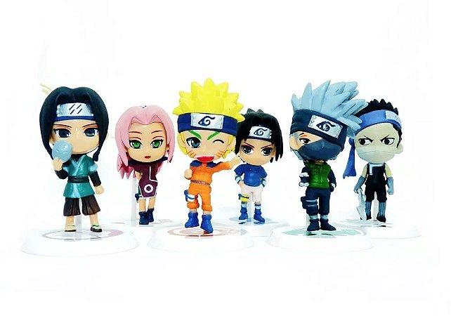 Kit Bonecos Colecionáveis Naruto com 6