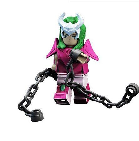 Boneco Compatível Lego Shun - Cavaleiros do Zodíaco (Edição Especial)