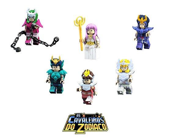 Kit Compatível Lego Cavaleiros do Zodíaco c/ 6