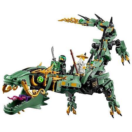 Set compatível Lego Ninjago Dragão Mecânico do Ninja Verde - 574 Peças