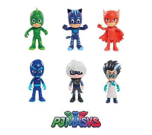 Bonecos PJ Masks Heróis de Pijama Com 6 Personagens Brinquedo Disney
