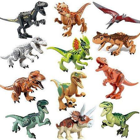 Brinquedo Dinossauros Lego Compatíveis (C/ 12) - Jurassic World