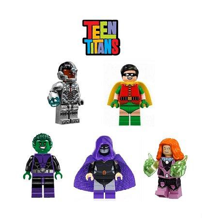 Kit Jovens Titãs LEGO compatível - DC Comics c/ 5