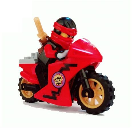 Boneco Moto Kai Ninjago Lego Compatível