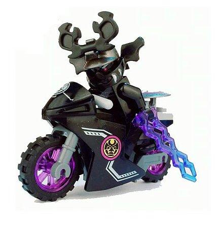 Boneco Moto Carmadon Ninjago Lego Compatível