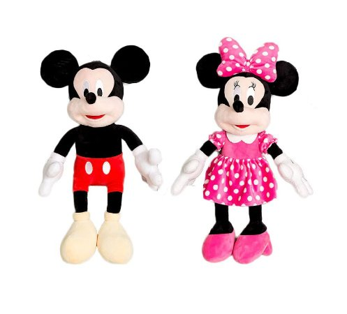 Kit Pelúcias Mickey e Minnie Mouse 30 Cm