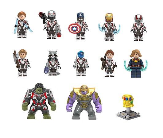 Kit Vingadores Ultimato Lego Compatível c/13 (Edição Deluxe)