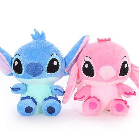 Pelúcia Stitch e Angel 18 Cm (Disney)