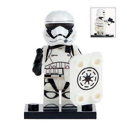 Boneco Stormtrooper Star Wars Lego Compatível (Edição Deluxe com Escudo)