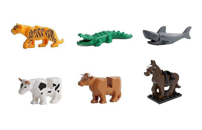 Kit Brinquedo Animais Lego compatível c/6