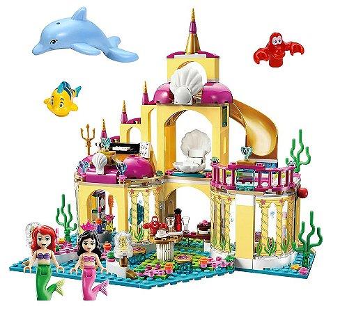 Set Palácio Submarino Ariel Pequena Sereia LEGO Compatível (379 peças) - Princesas Disney