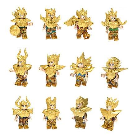 Kit 12 Cavaleiros de Ouro Lego Compatível - Cavaleiros do Zodíaco