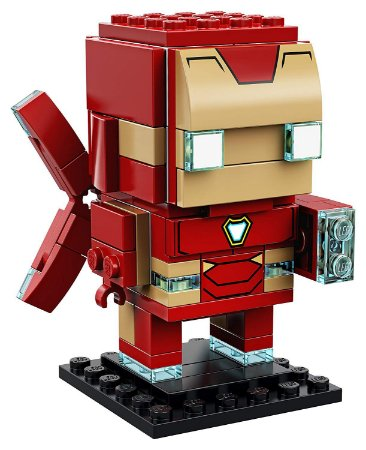 Brickheadz Homem De Ferro - Cute Doll 101 pçs (Lego Compatível)