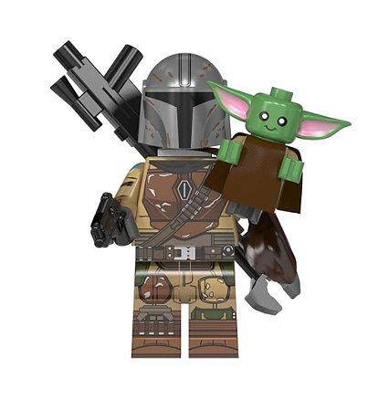 Boneco Mandaloriano e Baby Yoda Star Wars Lego Compatível (Edição Especial)