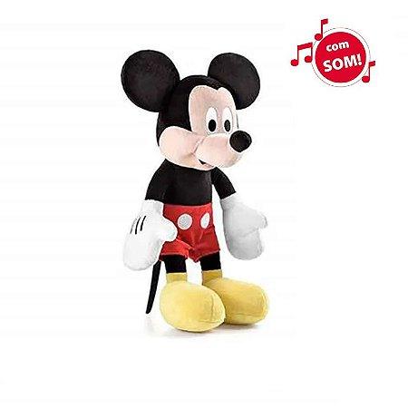 Pelúcia Mickey 25cm com Som (Mickey Mouse & Friends) - Tamanho Médio