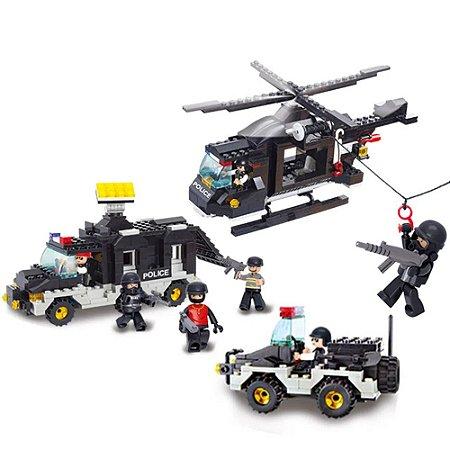 Blocos de Montar Policia Força Tática compatível Lego 499 Peças