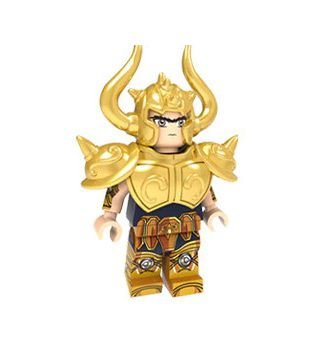 Boneco Compatível Lego Aldebaran de Touro - Cavaleiros do Zodíaco (Edição Especial)