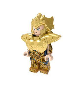 Boneco Compatível Lego Aiolia de Leão - Cavaleiros do Zodíaco (Edição Especial)