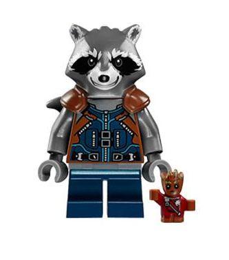 Boneco Rocket Raccoon Lego Compatível - Guardiões da Galáxia (Edição Especial)