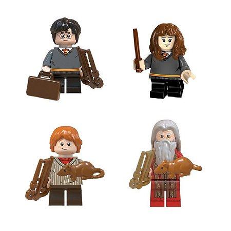 Kit Compatível Lego Harry Potter c/4