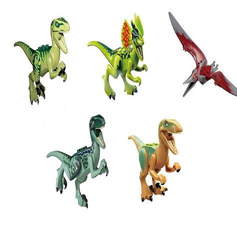Brinquedo Dinossauros Lego Compatíveis (C/ 5) - Jurassic World