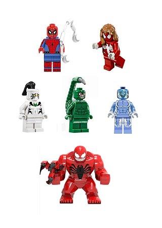 Kit Homem-aranha e Vilões LEGO compatível (com 6)