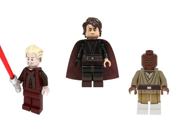 Kit Star Wars A Queda de Anakin Skywalker Lego Compatível c/3