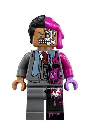Boneco Duas Caras Lego Compatível - Vilões Batman Dc Comics