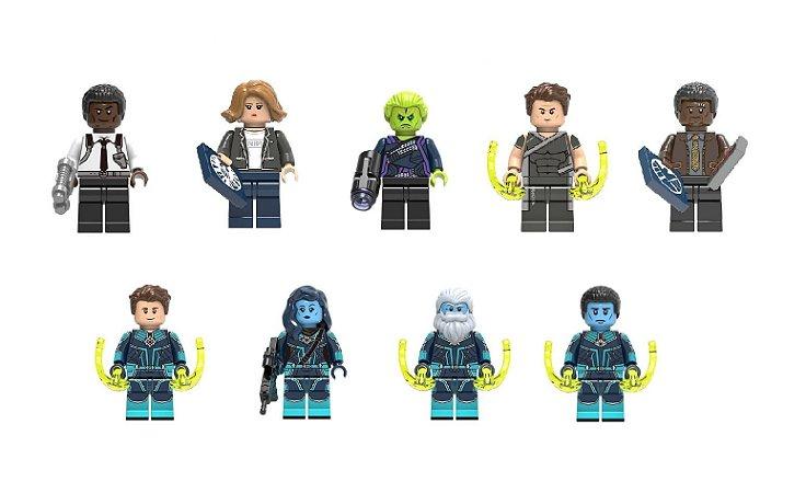 Kit Compatível Lego Capitã Marvel c/ 9