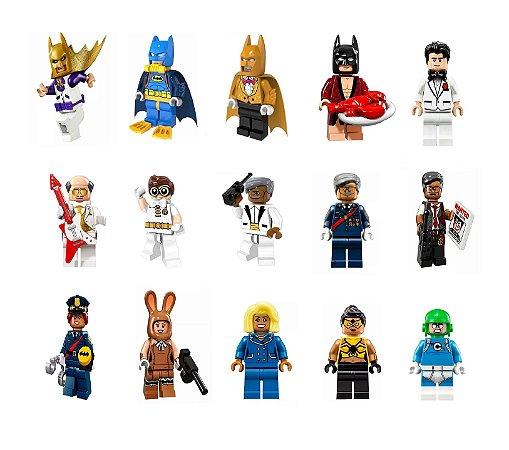 Kit compatível LEGO Batman: O Filme c/15
